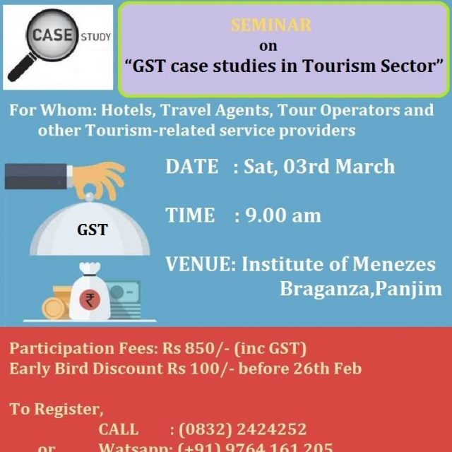 """Seminar on """"GST Case Studies and anti-profiteering in Real Estate & Tourism Sectors"""""""